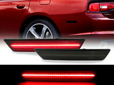 Smoke Pair REAR Side Marker Red LED Light 08-14 Dodge Challenger / 11-14 Charger