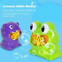 Cute Cartoon Animal Automatic Bubble Machine Blower Maker Kids Outdoor Toys #k
