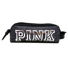 Victoria's Secret Pink Clip On Travel Bag Pouch Cosmetic Makeup Pencil Case Nwot