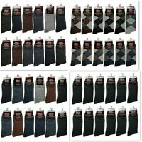 12 Pairs Mens Cotton Work Crew Fashion Casual Dress Socks Size 10-13