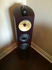 B&W Bower Wilkins Nautilus 804 Main / Stereo Speakers Dark Cherry Color