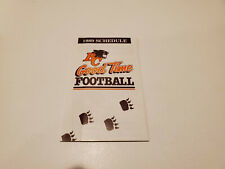 Rs20 Bc Lions 1989 Cfl Football Pocket Schedule - Shell/Labatt's