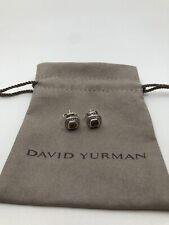David Yurman Petite Albion Earrings w/ Citrine & Diamonds 5mm