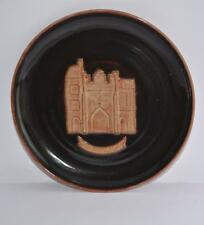 """VINTAGE 60S 70S WOLD POTTERY ROUTH BEVERLEY BAR PLATTER 9 3/4"""" ART STUDIO BROWN"""