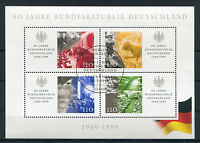 Bund Block 49 gestempelt ESST Berlin BRD 2051 - 2054, 50 Jahre Bundesrepublik