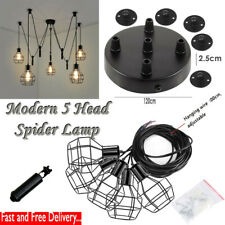 E27 Industrial Pendant Lights Spider Chandelier With Shades Hanging Ceiling Lamp