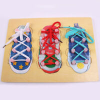 Shoe Lacing Puzzle Wooden Toys Shoes Toys Child Many Style Kids 2020 For Kids
