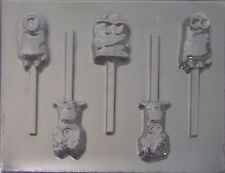 Minions Despicable Me Chocolate Lollipop Candy Mold #470 - NEW