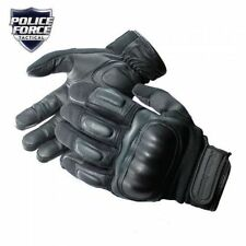 Hard Knuckle Tactical Gloves Police Force Self Defense Bikers Life Warranty L