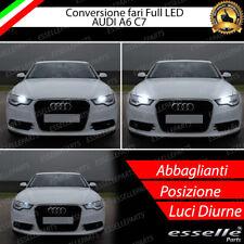 KIT FULL H15 LED AUDI A6 C7 CANBUS NO AVARIA LUCI 6000K BIANCO + POSIZIONE LED