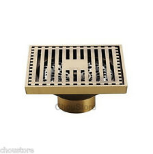 Solid Antique Bronze Brass Bathroom Floor Drain Waste Grate Shower Drainer