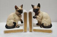 Vintage 1960s Lefton Siamese Cat Bookends.