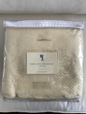 Nip Pottery Barn Kids Floral Matelasse Bed Skirt Dust Ruffle Twin Butter Quilted