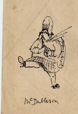 1965 Dessin autographe de Peter USTINOV cinéma caricature TRAPP Castel Howard