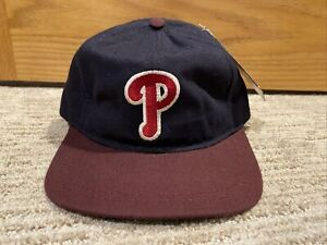 NEW Philadelphia Phillies Wool Slouch Adjustable Hat - American Needle - Leather