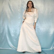 3 Part Bridal Costume S 38 Skirt+ Corsage+ Jacket Set Wedding Gown Wedding Dress