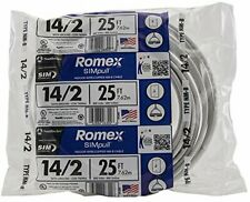 Southwire 28827421 25' 14/2 w/ground Romex brand SIMpull indoor electrical wire