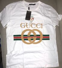 Gucci T Shirt 100% Authentic!!! Size:XL, Iconic Logo!!! New W/ Tags, Color:White