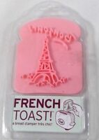 Fred French Toast! bread stamp eiffel tower Bonjour pink plastic handle 2009