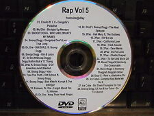 RAP HIP HOP R&B VOL 5 MUSIC VIDEO DVD OLD SCHOOL COOLIO SNOOP DOGG DR DRE 2PAC