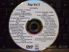 RAP HIP HOP R&B VOL 5 MUSIC VIDEO DVD OLD SCHOOL COOLIO SNOOP DOGG DR DRE 2PAC