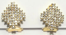 18ct Yellow Gold Diamond Earrings - CLIP ON - Total Carat Weight 1.0ct Estate