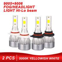 9005 & 9006 LED Headlight Kit Bulb Hi/Lo Beam 6500K 2500W 375000LM FOR Honda GMC