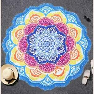 Indian Toalla Mandala Lotus Boho Tassel Beach Towel Microfiber Tapestry Blanket
