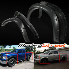 "09-15 DODGE RAM 1500 2.6""/2"" MATTE BLACK POCKET STYLE RIVET FENDER FLARES GUARD"