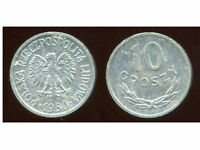 POLOGNE  10 groszy  1980  ( bis )