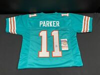 MIAMI DOLPHINS DEVANTE PARKER SIGNED CUSTOM THROWBACK JERSEY JSA WITNESS COA #11