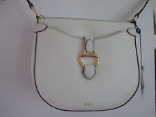 Ralph Lauren Allenville Crossbody Bag Cream Leather sells for $228