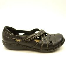 Clarks US 7 EU 37.5 X-Wide Womens Ashland Mary Janes Spin Black Leather