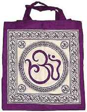 Tote Bag: Sacred Om Symbol (NEW, 100% Cotton, Hand Made, 18 x 18) WICCA PAGAN