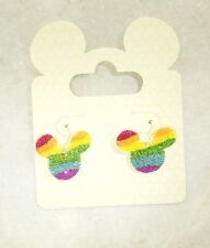 Disney Mickey Rainbow Sparkle Officially Licensed  Earrings Silver Plated