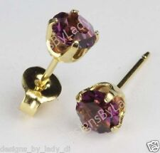 Studex Sensitive Gold 5mm February Purple Simulated Amethyst Stud Earrings