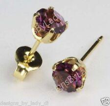 Studex Sensitive Gold 5mm February Purple Simulated Amethyst Stud Earrings