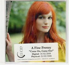 (EC603) A Fine Frenzy, Come On Come Out - 2008 DJ CD