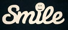 Smile Wooden Script Words Decorative Letters Wall Door Plaque Sign Unpainted MDF