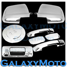 14-16 TUNDRA Double Cab Chrome Full Mirror+4 Door Handle+Tailgate Cam.+Gas Cover