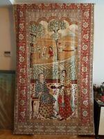 Tapices-Telas antiguas pintadas persas, siglo XIX, dinastía Kayar.