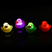 LED Flashing Light rubber floating Duck with Bath Tub Shower Toy for Kids Toy FU