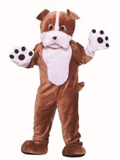 Deluxe Bull Dog Adult Costume Mascot Party Accessory Men Women Tan Brown Bulldog