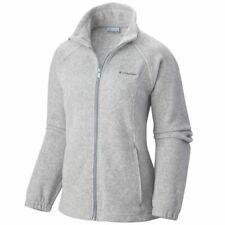 Columbia Womens Benton Springs Full Zip Light Grey Fleece Jacket Size 3x 3xl