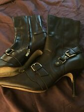 STEVEN leather buckle boots