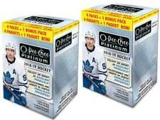 (2) 2018-19 UpperDeck O-Pee-Chee Platinum Hockey Cards 5+1BonusPk Blaster Bx LOT