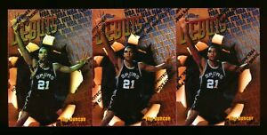 (3) 1997-98 TOPPS FINEST #101 TIM DUNCAN RC SPURS ROOKIE CARD LOT! HOT! W/PEEL!