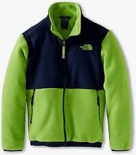 NWT The North Face Fleece Denali Outerwear Jacket Coat Boys Navy Green XL 18-20
