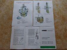 BVF carburador info manual 22 24 26 28 n 1-1 MZ lo 125 150 175/2 250/2 nuevo