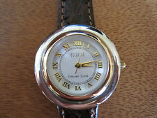 #529 ladys sterling silver  and gold plate ECCLISSI watch